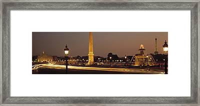 Place De La Concorde Paris France Framed Print by Panoramic Images