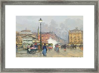 Place De L'opera Paris Framed Print