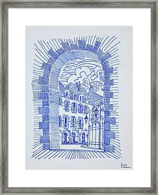 Place Des Vosges, Marais, Paris, France Framed Print