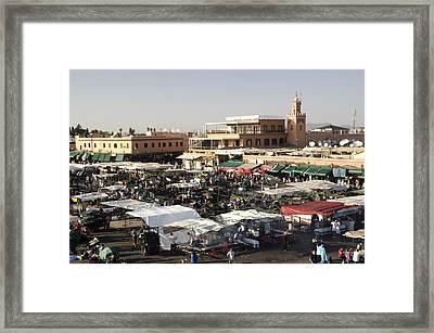 Place Jemaa El Fna Marrakech  Framed Print by Martin Turzak