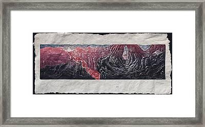 Place Of Emergence Framed Print by Maria Arango Diener