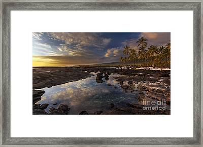 Place Of Refuge Sunset Reflection Framed Print by Mike Reid