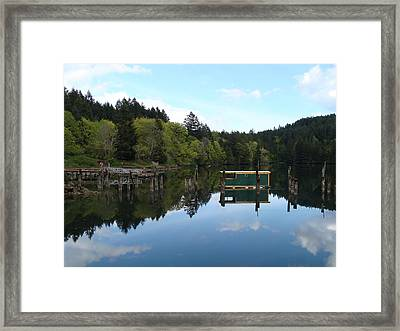 Place Of The Blue Grouse Framed Print by Cheryl Hoyle