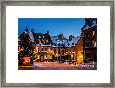 Place Royale Quebec City Canada Framed Print by Dawna  Moore Photography