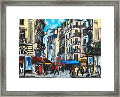 Place Saint-michel In Paris Framed Print by Mona Edulesco