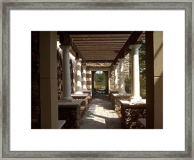 Place Setting Framed Print by Angelia Hodges Clay