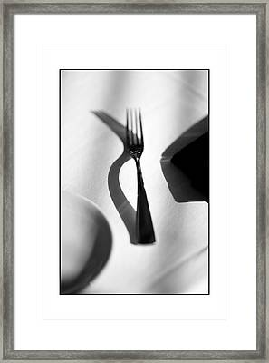 Place Setting Simplicity Framed Print by Don Powers