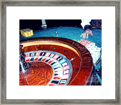 Place Your Bets Las Vegas Framed Print