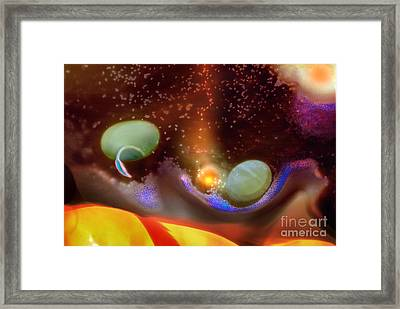 Placental Incubation Of Form Framed Print by Wernher Krutein