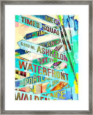Places In Color Framed Print by Cathie Tyler