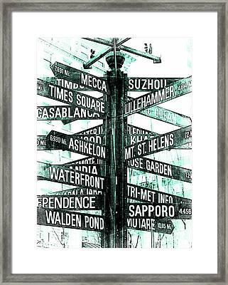 Places To Go  Framed Print by Cathie Tyler