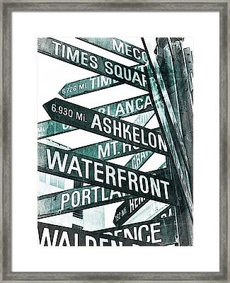 Places To See Framed Print by Cathie Tyler