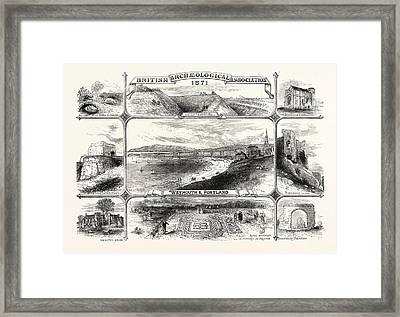 Places Visited By The British Archeological Association Framed Print by English School