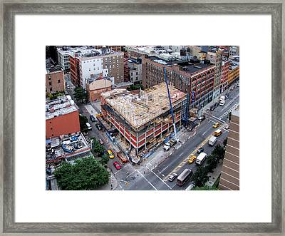 Placing Concrete Forms Framed Print