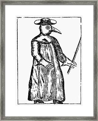 Plague Costume, 1720 Framed Print by Granger