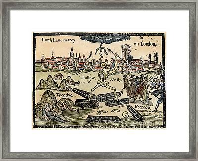 Plague Of London, 1665 Framed Print by Granger