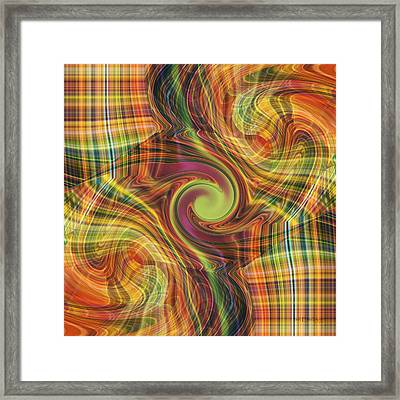 Plaid Tumble Framed Print
