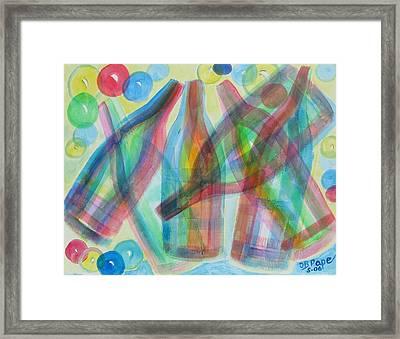 Plaid Wine Framed Print