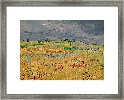Plain At Auvers Framed Print by Vincent Van Gogh