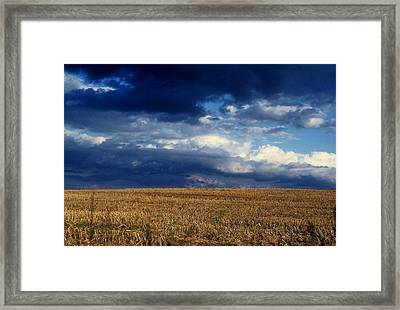 Framed Print featuring the photograph Plain Sky by Rodney Lee Williams