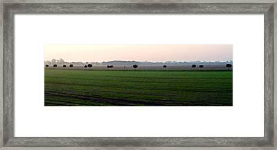 Plaine Allemande A Grande Vitesse Framed Print by Marc Philippe Joly