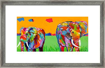 Plains Elephants Framed Print by Tracy Miller