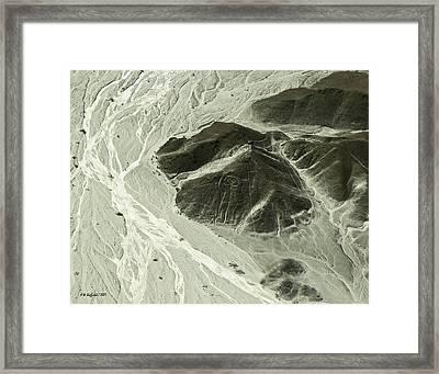 Plains Of Nazca - The Astronaut Framed Print