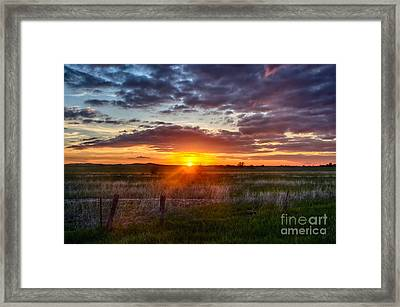 Plains Sunset Framed Print