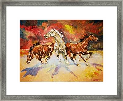 Framed Print featuring the painting Plains Thunder by Al Brown