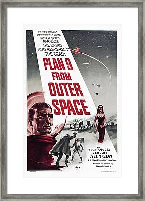 Plan 9 From Outer Space, Vampira, 1959 Framed Print by Everett