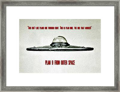 Plan 9 Seinfeld Framed Print by Benjamin Yeager