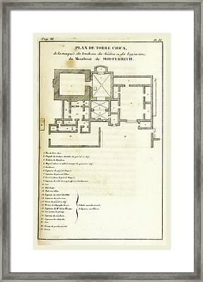 Plan De Torre Chica, Sidi-ferruch, Anecdotes Pour Servir Framed Print by Litz Collection