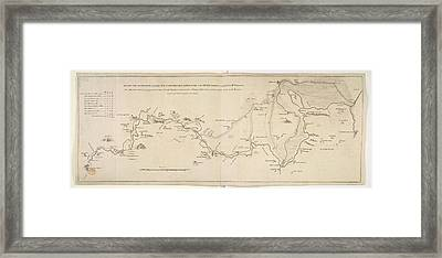Plan Of A Canal Framed Print by British Library