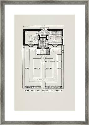 Plan Of A Play-house Framed Print