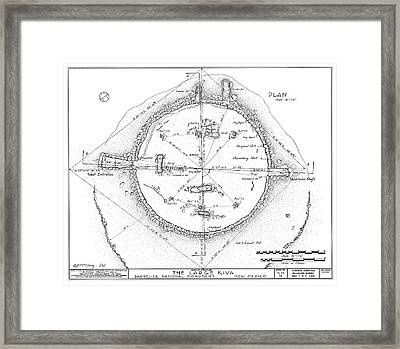 Plan Of An Anasazi Kiva Framed Print by Library Of Congress