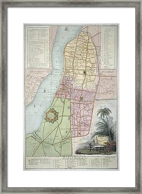 Plan Of Calcutta Framed Print by British Library