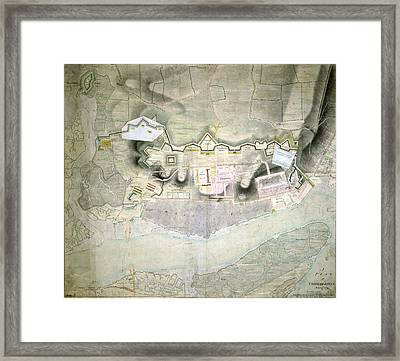 Plan Of Chatham Lines Framed Print
