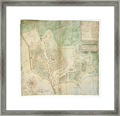 Plan Of Flushing Framed Print