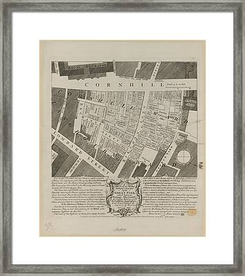 Plan Of Houses Destroyed By Fire Framed Print