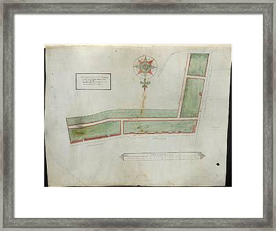 Plan Of Houses In Brick Lane Framed Print by British Library