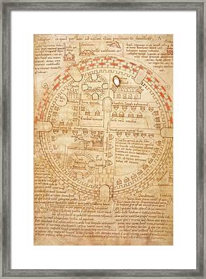 Plan Of Jerusalem Framed Print