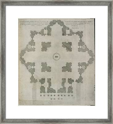 Plan Of St.peter's Basilica Framed Print by British Library