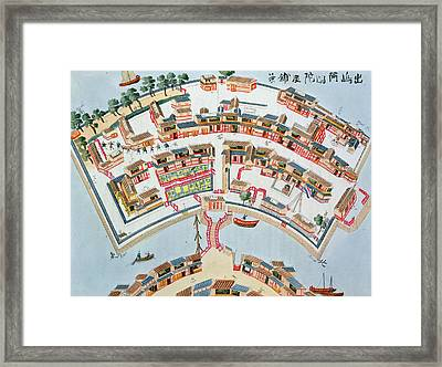 Plan Of The Dutch Factory In The Island Framed Print