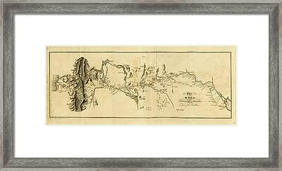 Plan Of The Road Between Buenes Ayres And Mendoza Framed Print by Litz Collection