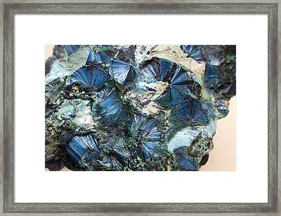 Plancheite Mineral Framed Print by Science Photo Library