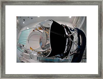 Framed Print featuring the photograph Planck Space Observatory Before Launch by Science Source
