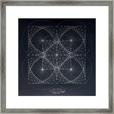 Plancks Blackhole Framed Print by Jason Padgett