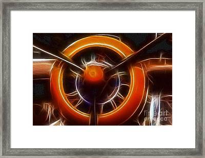 Plane - All Orange Framed Print by Paul Ward