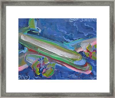 Plane Colorful Framed Print