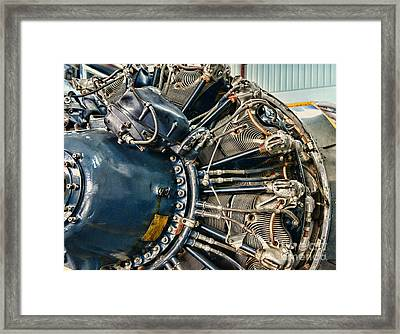 Plane Engine Close Up Framed Print
